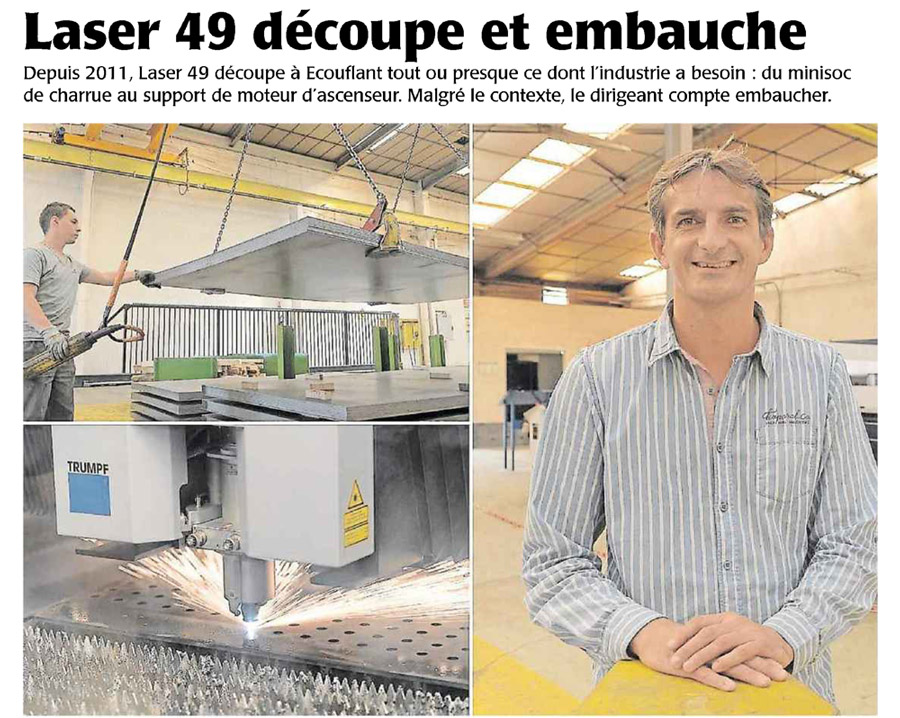 Le Courrier de l'Ouest du 4 Septembre 2014